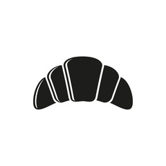 Simple black Croissant Icon Vector