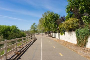 Relaxing Bike Trail in City