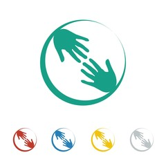 Charity logo icon Vector