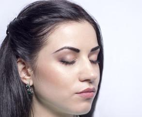 Макияж крупным планом Closeup of eye makeup
