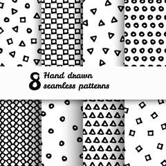 Geometric Seamless pattern set.