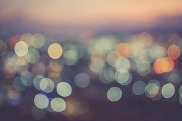 abstract blur bokeh of night light