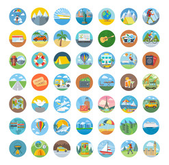 Set of Travel Icon Flat Design