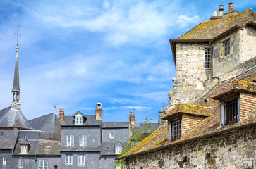 Honfleur, France, Normandy,  the houses of the old harbor basin