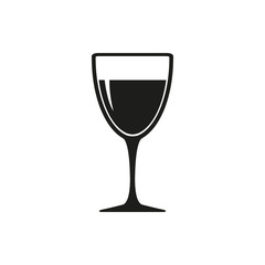 Wineglass with white or red wine vector