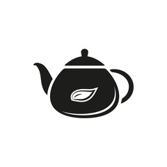 Tea Icons Set on White Background. Vector