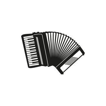 Vector illustration of Accordion on white background