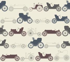 Vintage car seamless pattern