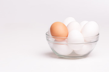 eggs in glass dish