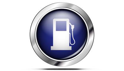 Picto pompe à essence bleu
