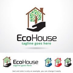 Eco House Logo Template Design Vector