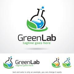 Green Lab Logo Template Design Vector