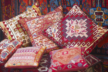 Souvenir pillows in Icheri Sheher, Baku, Azerbaijan