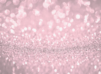 silver and pink bokeh glitter abstract background