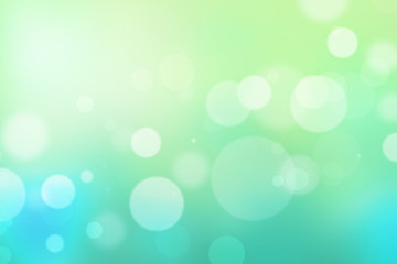 Circle light bokeh green sea blue abstract background