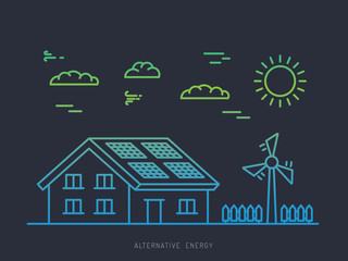 Alternative energy illustration