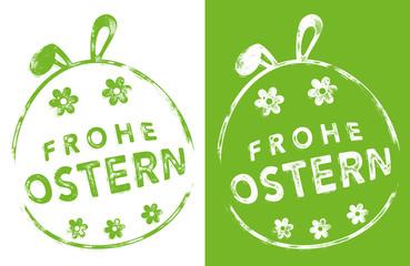 Stempel Druck - FROHE OSTERN