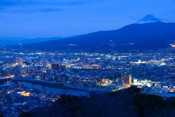 Night scene of Numazu city in Shizuoka, Japan