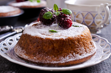 Sweet baked cake