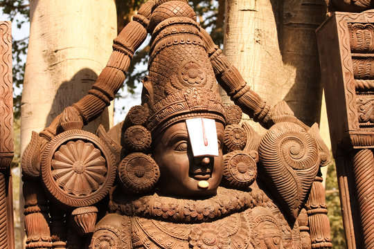 Wooden Idol of Lord Venkateswara, Tirupati Balaji