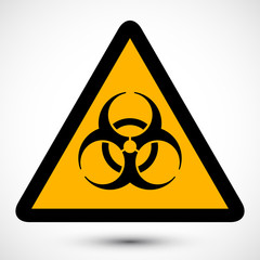 Biohazard Symbol with Grunge Texture on background. Isolated vector illustration of biohazard symbol. Icon can be used as a poster, wallpaper, t-shirt design, web design.