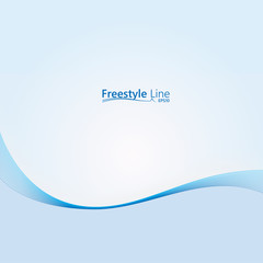 Abstract background with line freestyle  design. Vector background