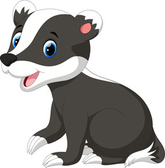 Cute badger cartoon