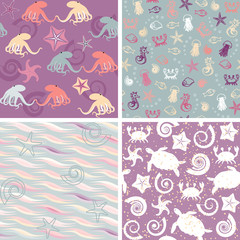 Sea life patterns collection 5
