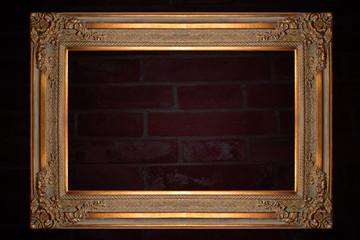 Old Golden Photo Frame design