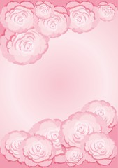 Background with pink camellias
