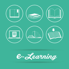 e-learning icon design