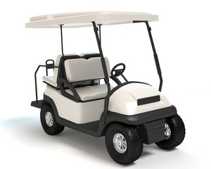 3d illustration of a golf cart