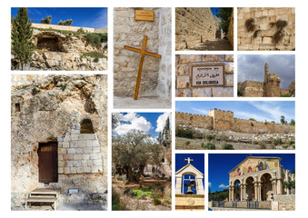 Landmarks of Jerusalem - photo collage