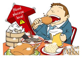 糖尿病のイメージイラスト