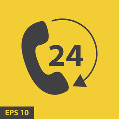 Telephone receiver vector icon. phone icon