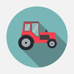 Ftat Tractor Vector Illustration