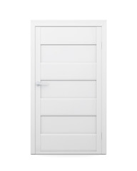 Door on a white background. Front view. 3d illustration.