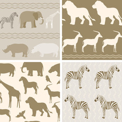 Collection of african animals patterns