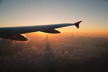 Sunrise from the airplane.