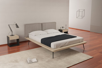 Contemporary beige hotel luxury bedroom