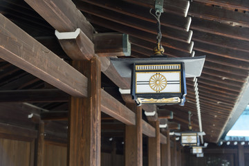 Japanese lamp Decoration at Meiji Jingu Shrine, Harajuku, tokyo, Japan