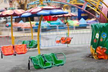 empty amusement park