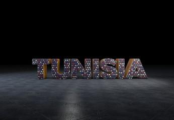 Tunisia, Countries, 3D Typography
