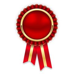 Rot-goldene Vektor Rosette als Vorlage auf weißem Hintergrung