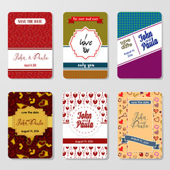 Set of perfect vector card templates. Ideal for Save The Date, b