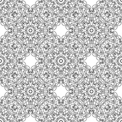 Abstract Seamless Pattern Like Lace. Vintage Ornament Pattern. I