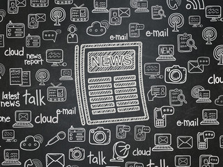 News concept: Newspaper on School Board background