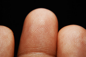 human finger and finger print