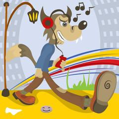 wolf music lover