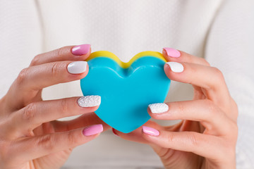 Wall Mural - Cosmetic soap for hands.
